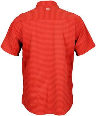 Club Vibe Short Sleeve Shirt: Rust LG