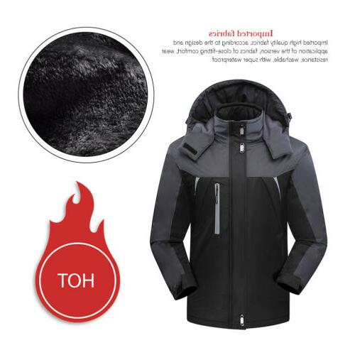 Waterproof Windproof Men Warm Coat Snow Winter Jacket Outwear Outdoor Clothes