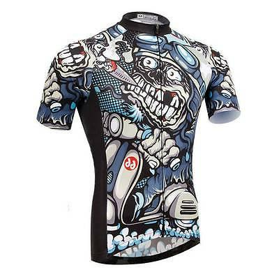 weimostar cigar skull men cycling jersey bicycle