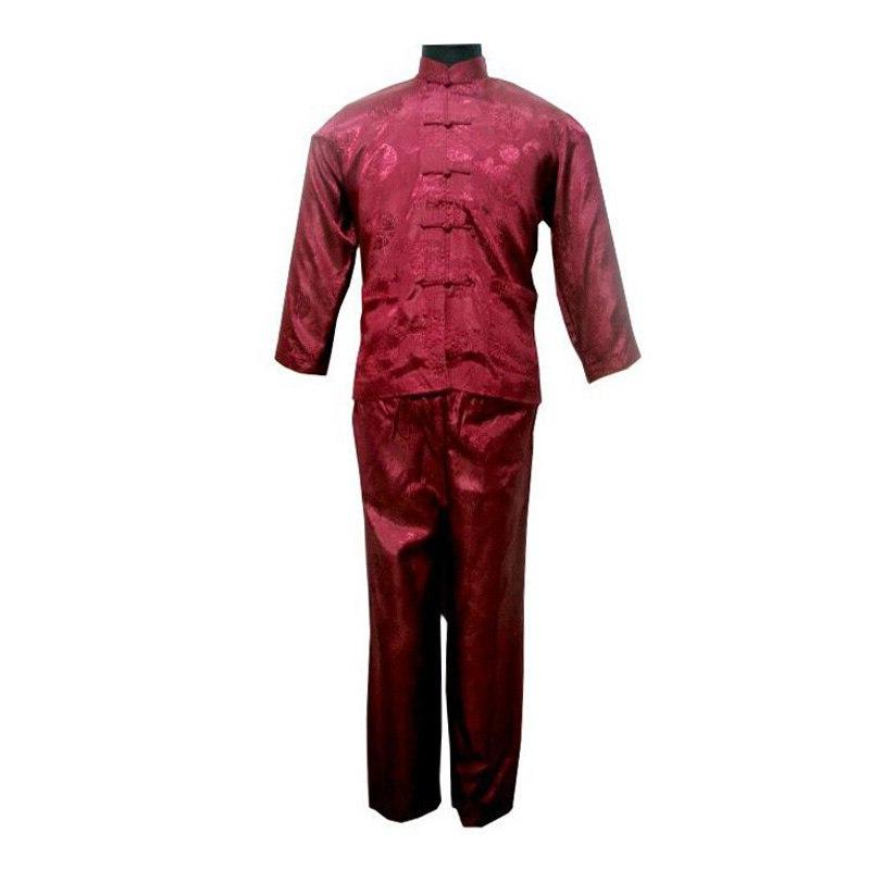 White Chinese <font><b>Men's</b></font> Kung Traditional Male Wu Sets Tai Uniform <font><b>Clothing</b></font> Plus 011311