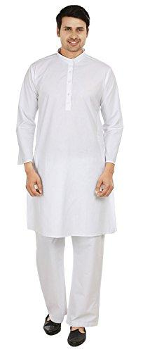white cotton kurta pajama yoga mens indian
