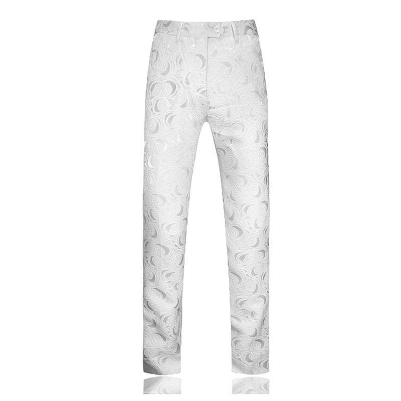 White <font><b>Mens</b></font> suits <font><b>pants</b></fon