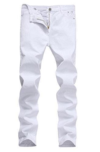 white skinny slim fit stretch