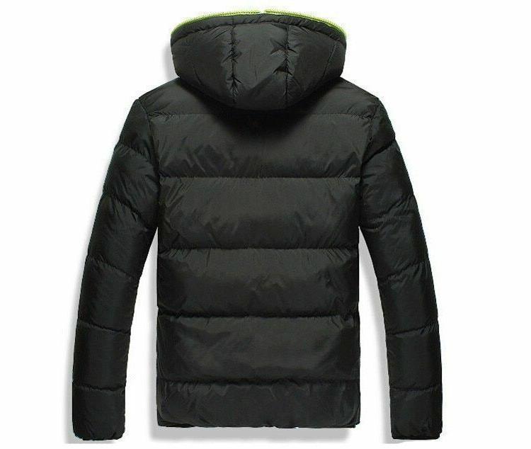 Winter Casual Hooded Jacket Zipper Style Men's Outerwear Clothe