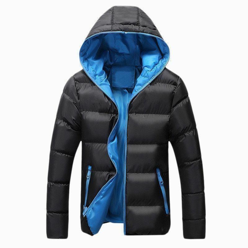 Winter Casual Zipper Parka Slim Men's Outerwear