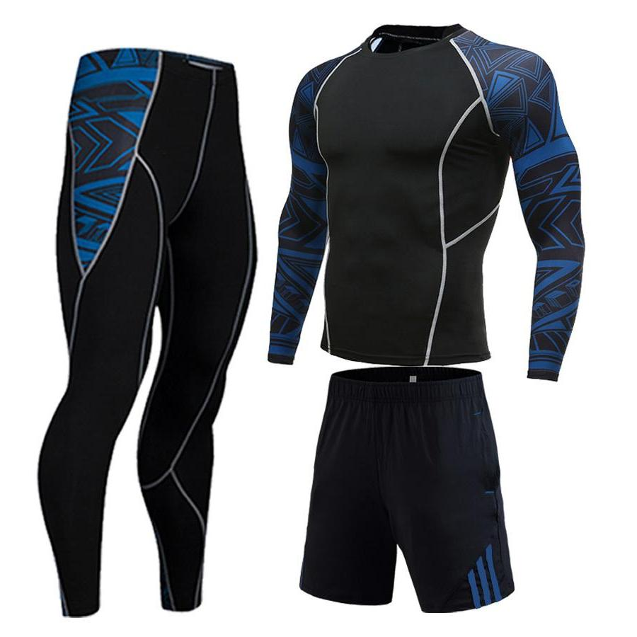 Winter Full Man Compression For Sports <font><b>clothing</b></font> <font><b>Cycling</b></font> tracksuit 3D wolf