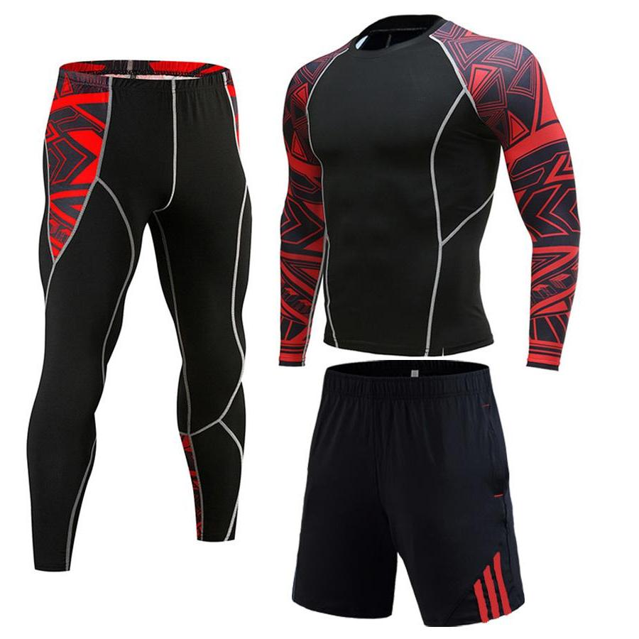 Winter Jogging Man tracksuit Compression For <font><b>clothing</b></font> tracksuit New 3D wolf