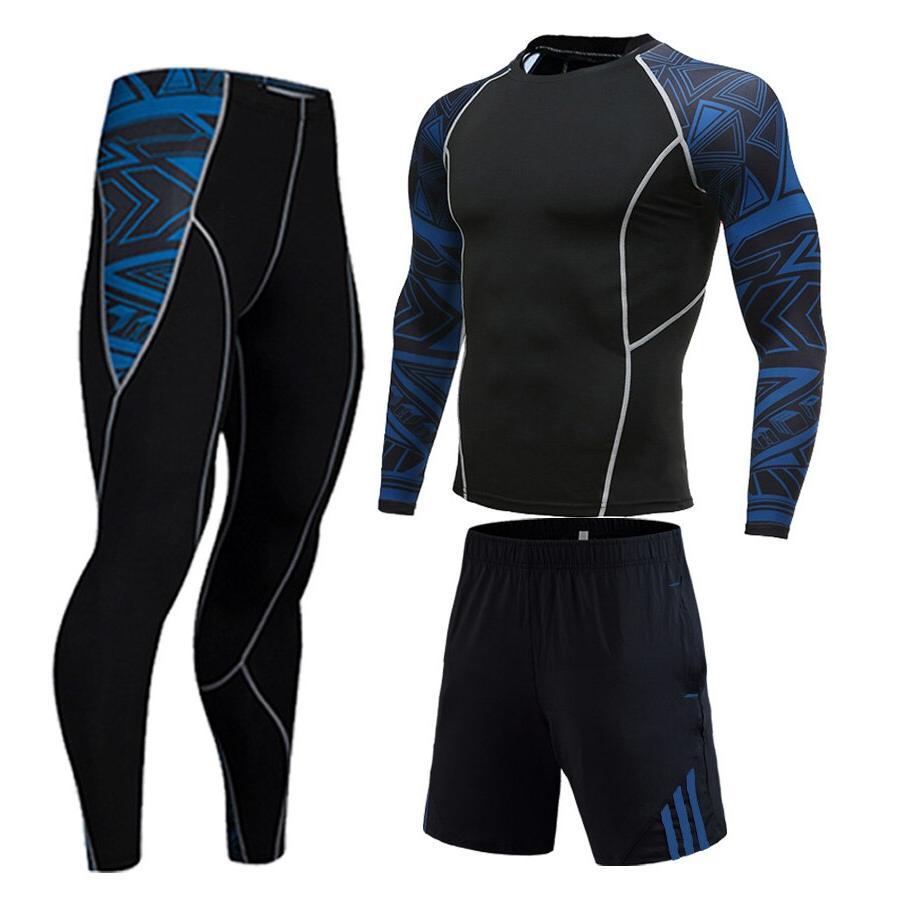 Winter Jogging Full Man For Sports Gym <font><b>clothing</b></font> <font><b>Cycling</b></font> tracksuit New 3D head