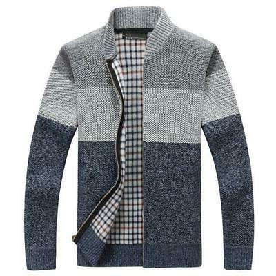 Winter Jackets Cardigan Coats Mens Clothing Autumn Gradient