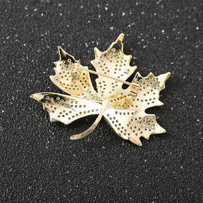 Women Men Maple Leaf Brooch Clothing