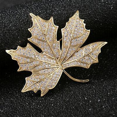 Women Maple Leaf Brooch Boutonniere Easy Clothing Decoration Wedding