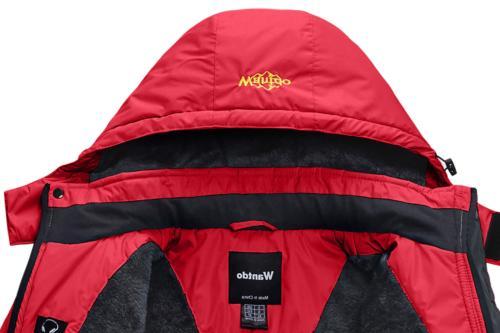 Wantdo Women's Fleece Ski Jacket Windproof Rain