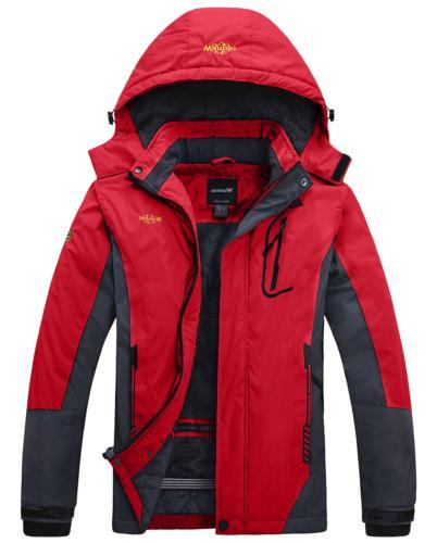 women s mountain waterproof fleece ski jacket