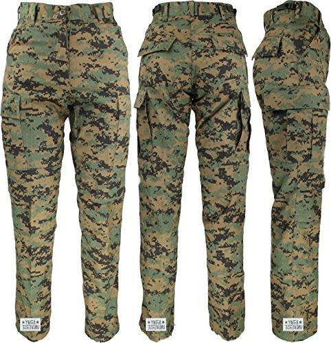 woodland digital camo military bdu cargo pants