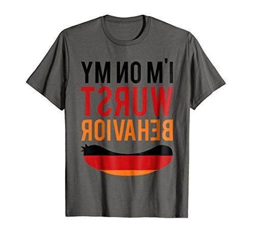wurst behavior oktoberfest t shirt funny german