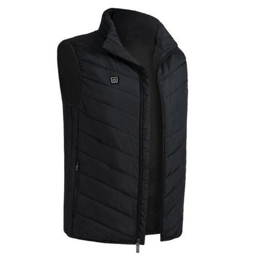 USB Electric Heated Vest Women Jacket Rechargeable