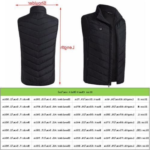 USB Electric Vest Women Thermal Jacket Rechargeable Coat