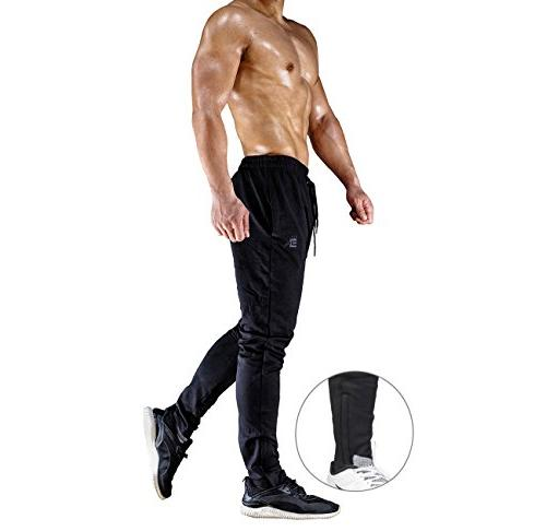 BROKIG Mens Pants - Fitness Comfortable Tracksuit Slim Pants with