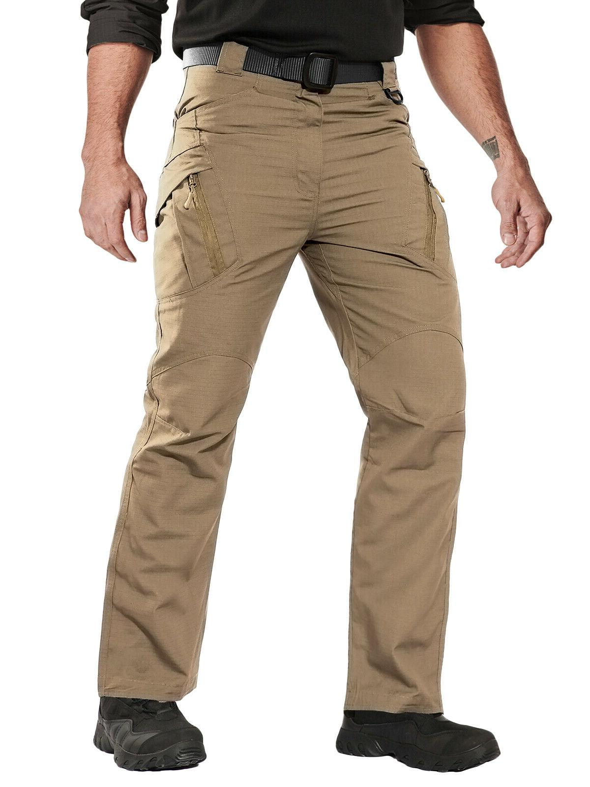 Zip Pockets Mens Tactical Cargo Workout Rip-stop UTP