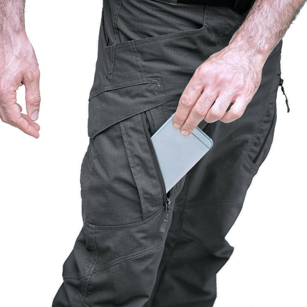Zip Pockets Cargo Rip-stop Trousers