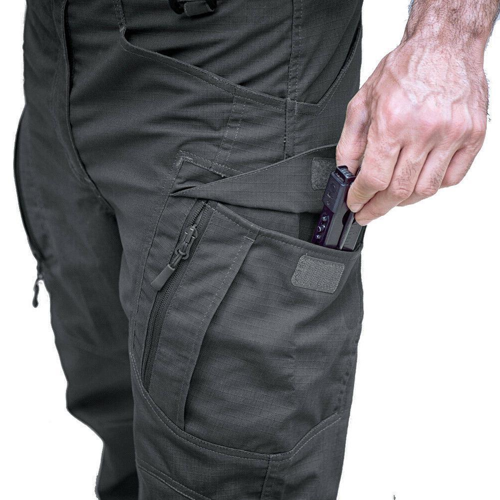 Zip Mens Cargo Safari Rip-stop Pants UTP