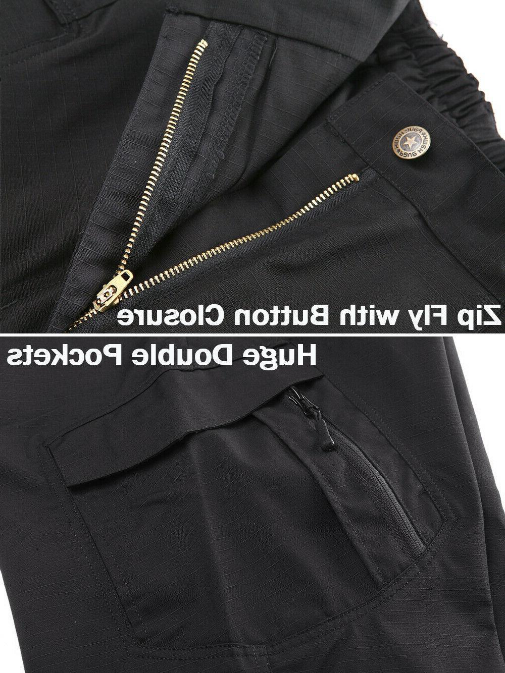 Zip Pockets Mens Rip-stop Pants