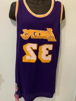 LA Lakers 32 Magic Johnson NBA Hardwood Classic Jersey Men P