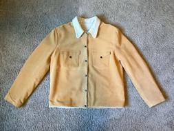 LEVI'S VINTAGE CLOTHING Suede Sherpa Trucker Jacket