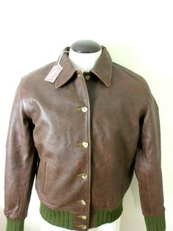 Levis Mens Vintage Clothing Strauss Italian Leather Jacket B