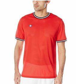 Champion LIFE Men's Mesh Tee Shirt - Team Red Scarlet - Size