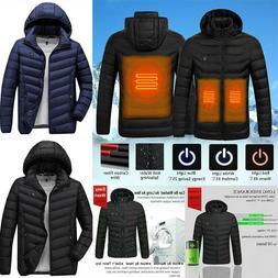 Long Sleeve Heated Warm Body Electric USB Heating Coat Jacke