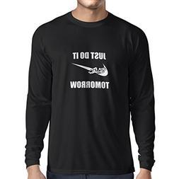 Long Sleeve t Shirt Men Just Do It Tomorrow - Workout Tops w