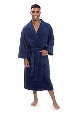 Men's Luxury Terry Cloth Bathrobe - Soft Spa Robe by Texer