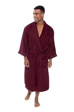 Men's Luxury Terry Cloth Bathrobe - Soft Spa Robe by Texer