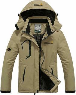 MAGCOMSEN Men's Waterproof Fleece Mountain Jacket Windproof