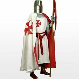 Medieval Clothing For Men Red Templar Tunic & Cloak Theater
