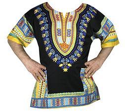 Decoraapparel Men Clothing Hippie Style Dashiki Blouse Shirt