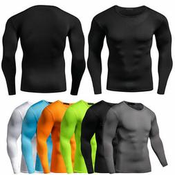 men compression t shirt base layer tight