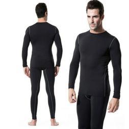 Men Compression Thermal Underwear Set Top &Bottom Sports Lon