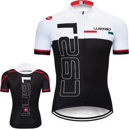 Men Cycling Jersey Bib Short Kit Bicycle Bike Shirt Team Clo