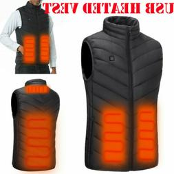 men electric usb heated vest coat jacket