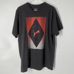 Puma Men Grey Graphic Logo T-Shirt Adult Size 2XL
