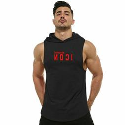 Men Gym Clothing Bodybuilding Stringer Hoodie Tank Tops Musc