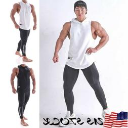 Men Gym Clothing Bodybuilding Stringer Hoodie Tank Tops Musc