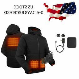 men heated jacket heat coat winter outdoor