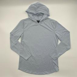 Cuts Clothing Men Long Sleeve Crew Neck Curve Hem Hooded Tee