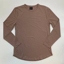 Cuts Clothing Men Long Sleeve Crew Neck Curve Hem T-Shirt Mo