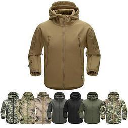 men outdoor jacket waterproof tad coat shark