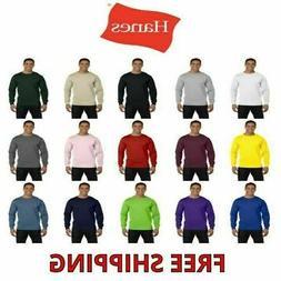 Hanes Men's 100% Cotton Long Sleeve Beefy-T® L/S Tee Shirt