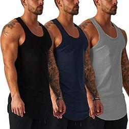 COOFANDY Men's 3 Pack Gym Tank Top Workout Muscle Sleeveless
